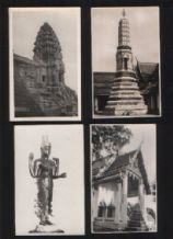 Collectible Siam Thailand 4 old postcards RP #115